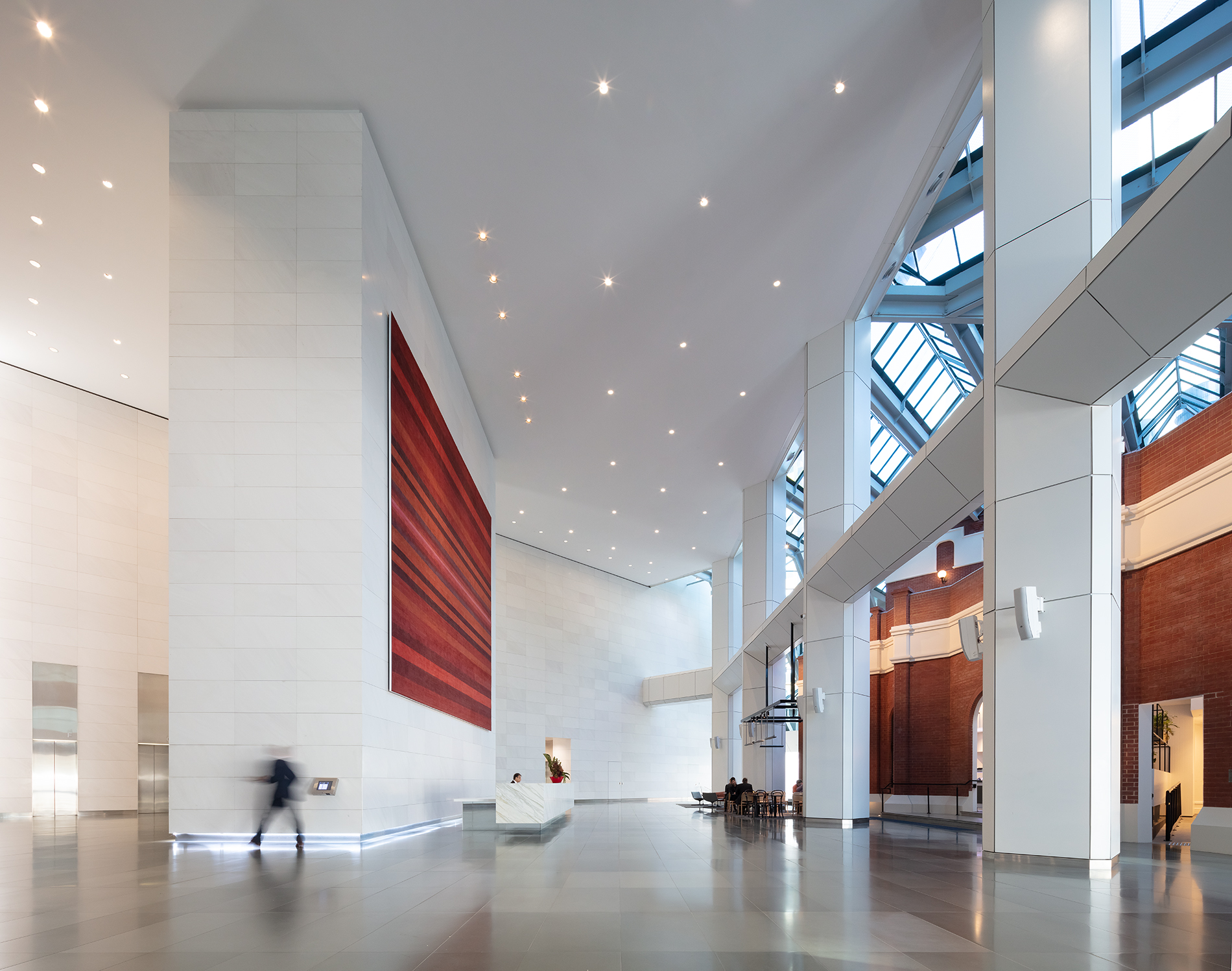 Lobby of a modern office building