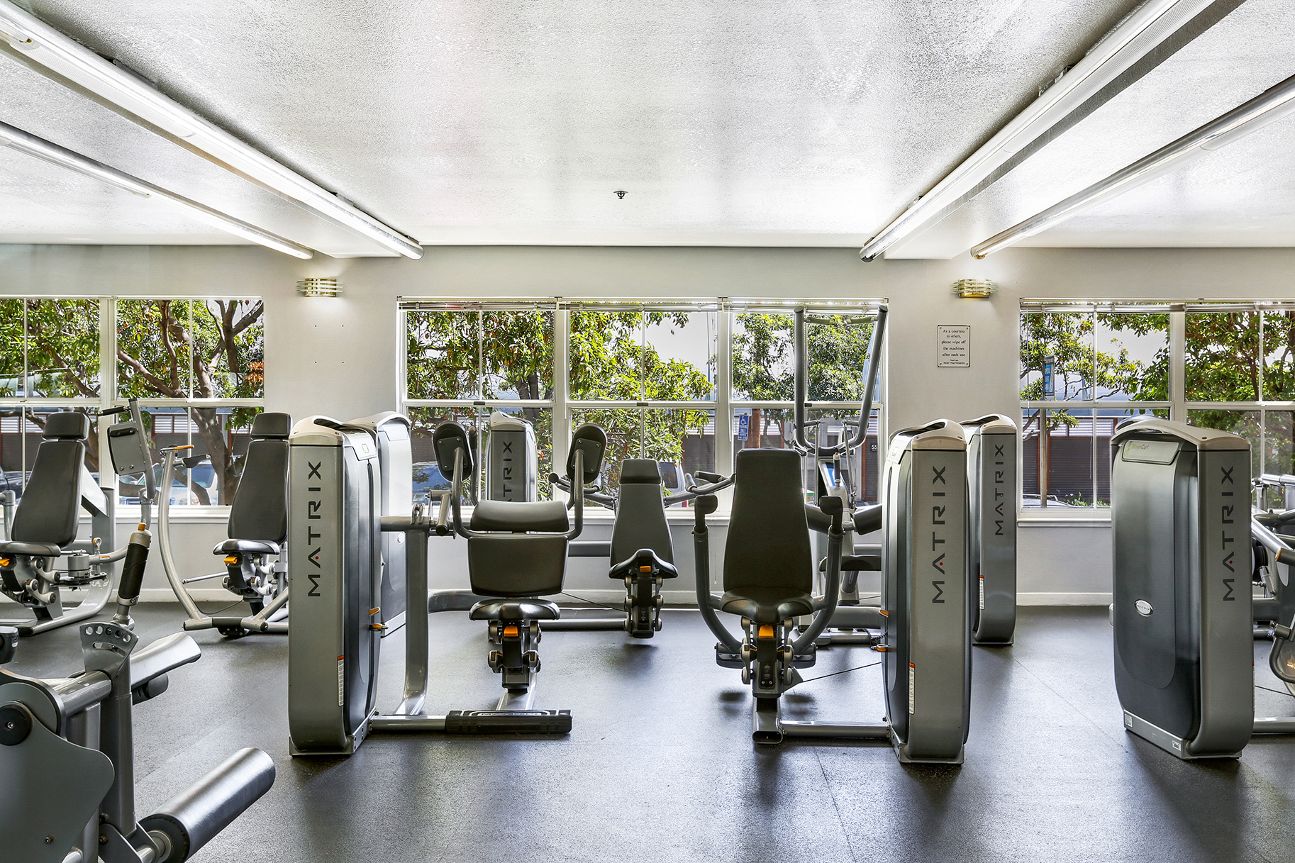 Gym of an apartment building