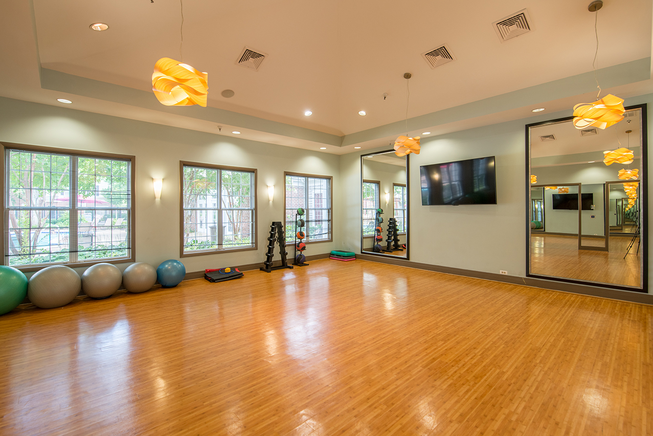 Yoga studio of an apartment building