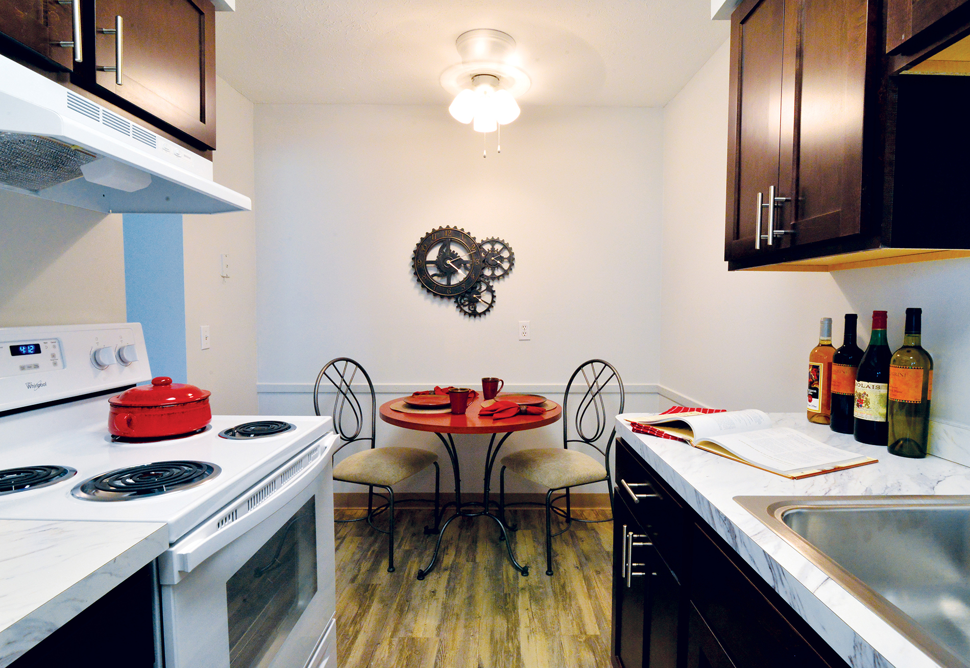A kitchen in an apartment unit