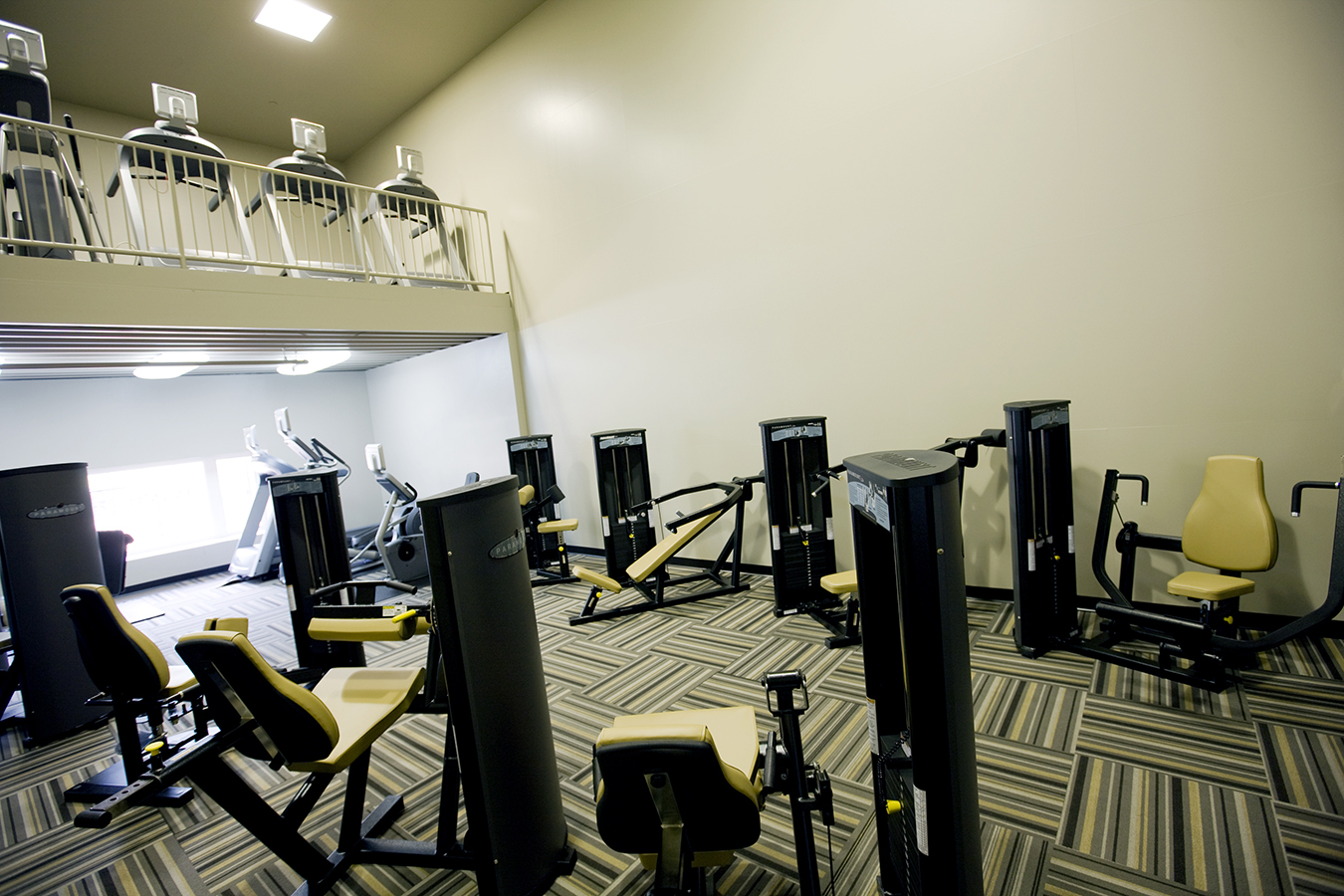 Fitness center at an apartment complex