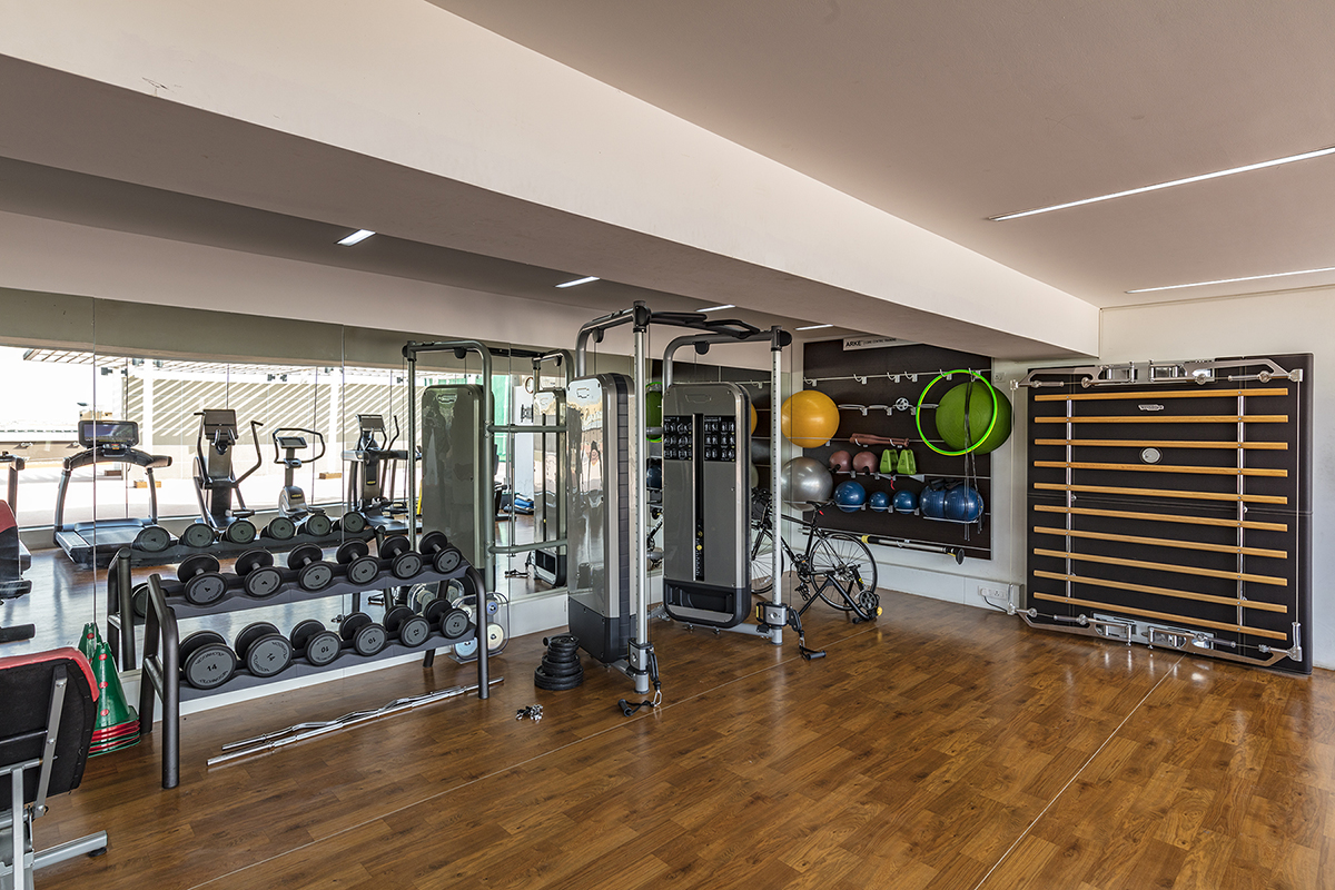 Gymnasium at an office building