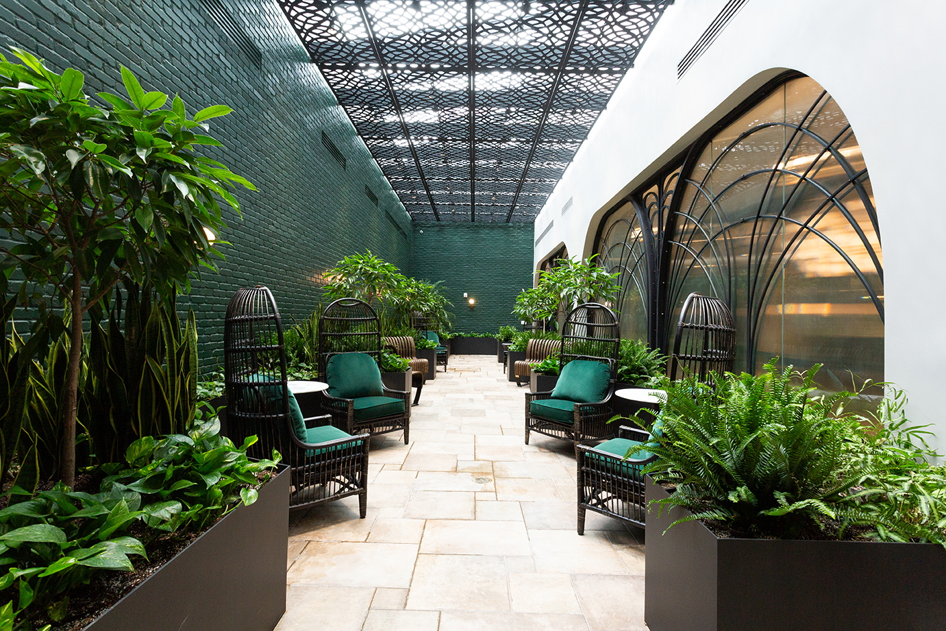 Interior courtyard of an apartment building