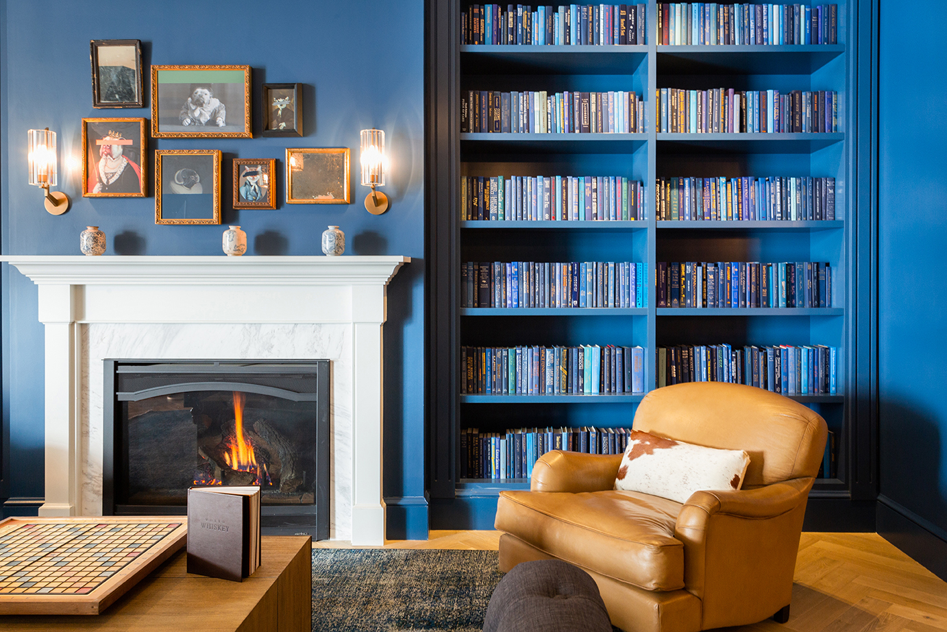 Library of an apartment building
