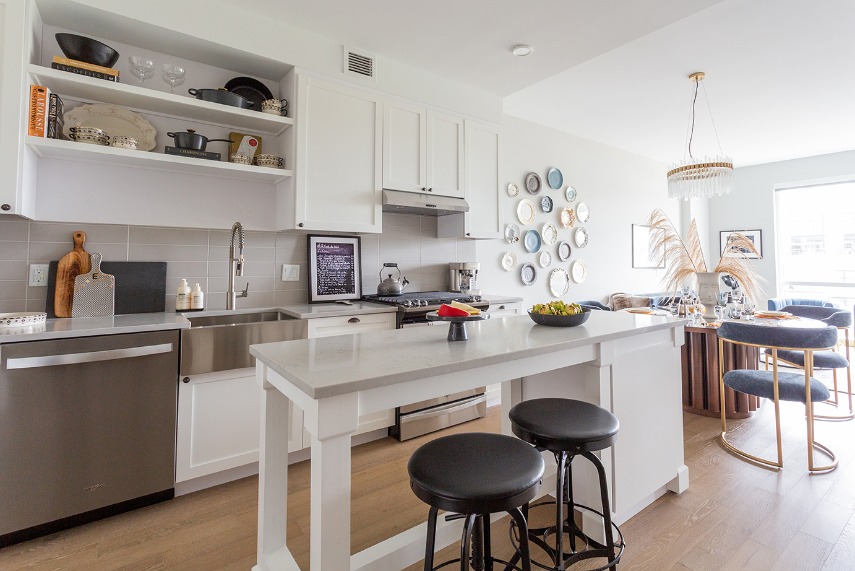 Kitchen in a modern apartment unit