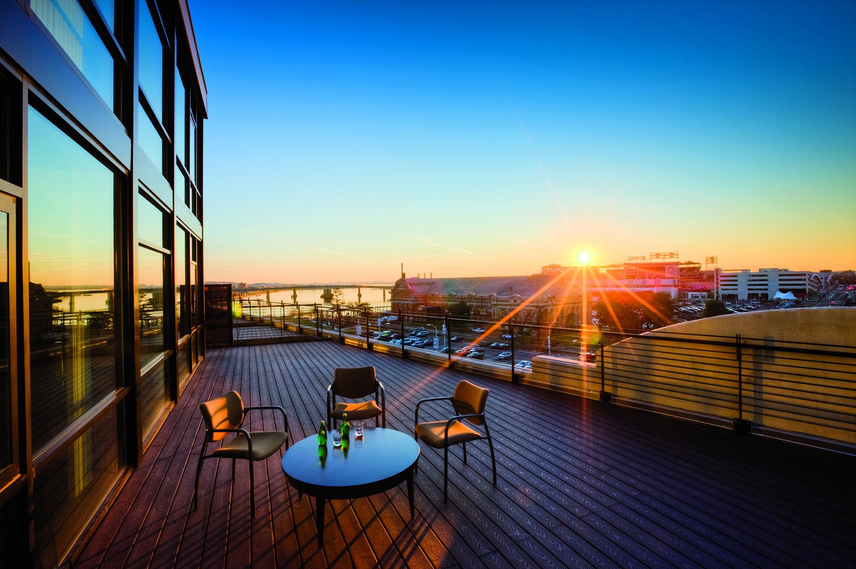 Penthouse apartment balcony