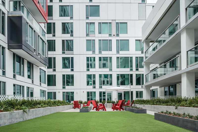 Central courtyard of an apartment building