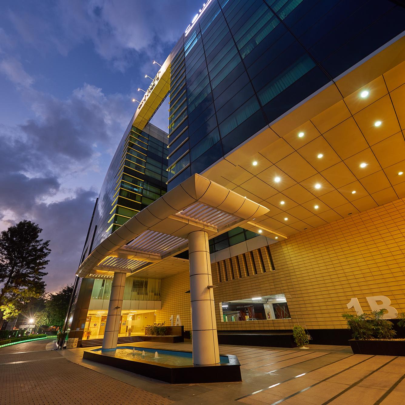 Entrance lobby for an office building