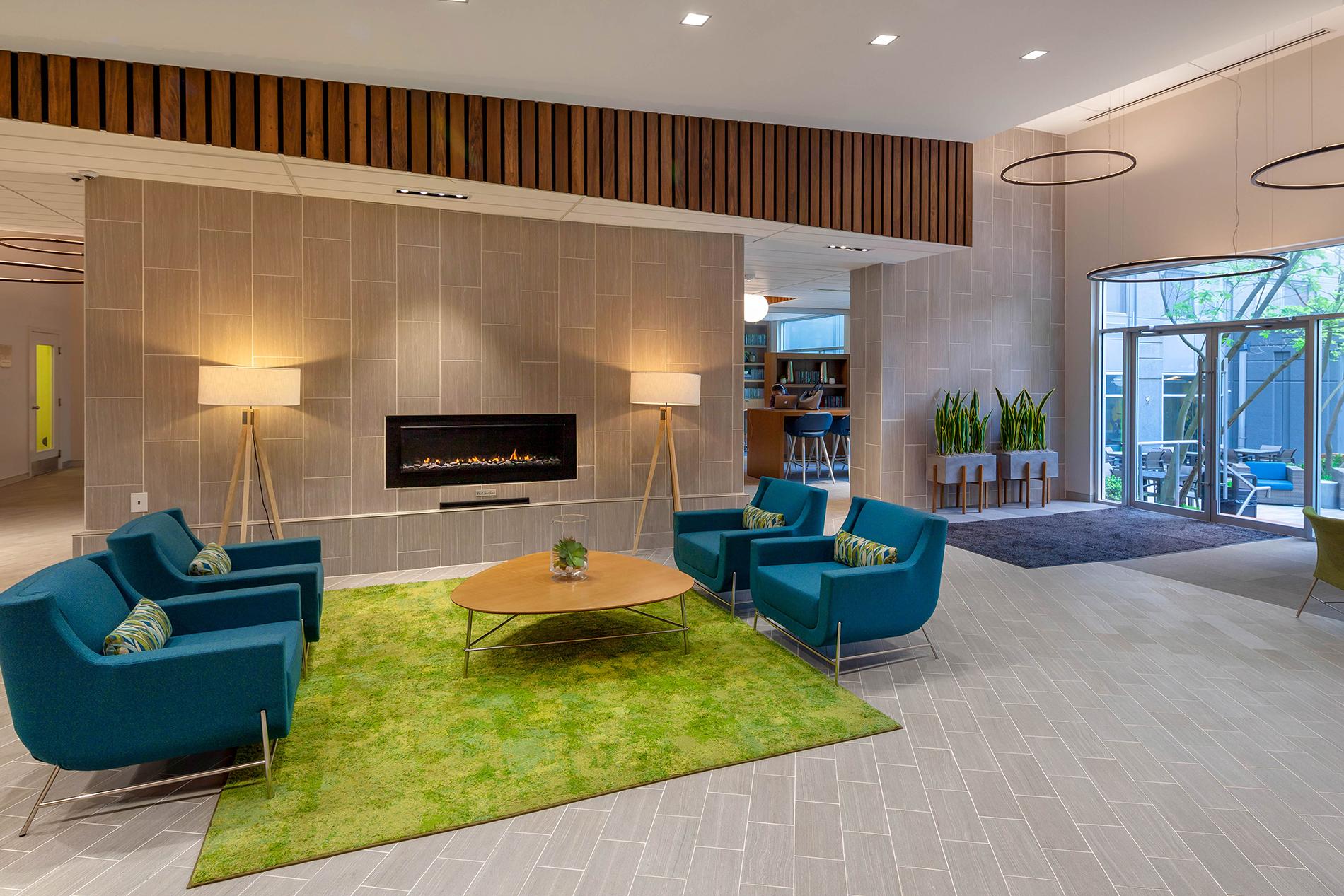 Lobby of an apartment building