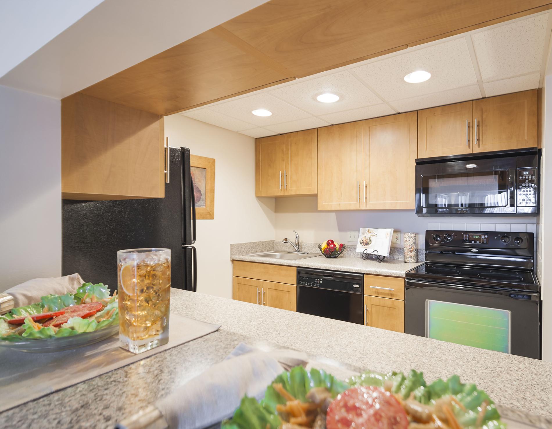 Kitchen of an apartment unit