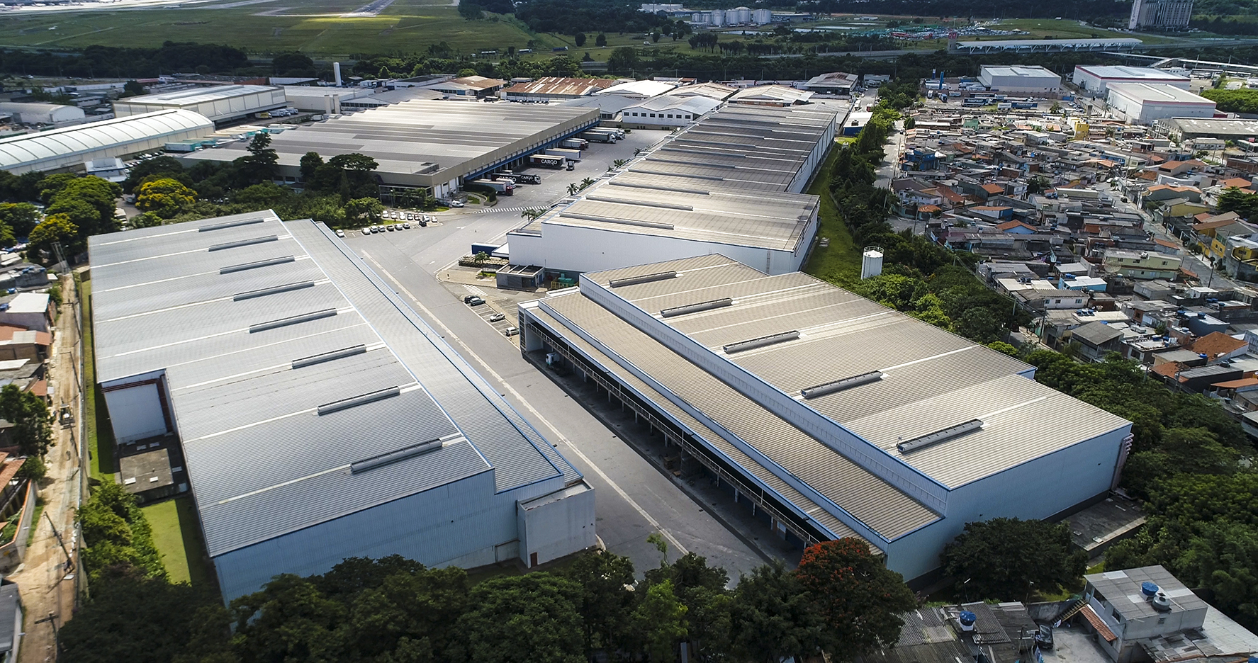 A large logistics warehouse in Brazil