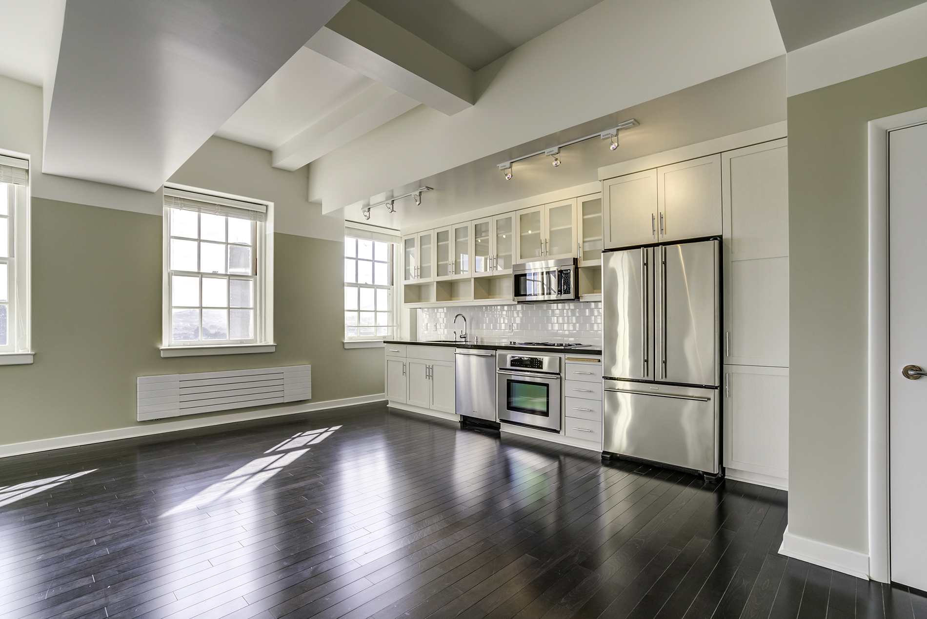Kitchen in an apartment unit