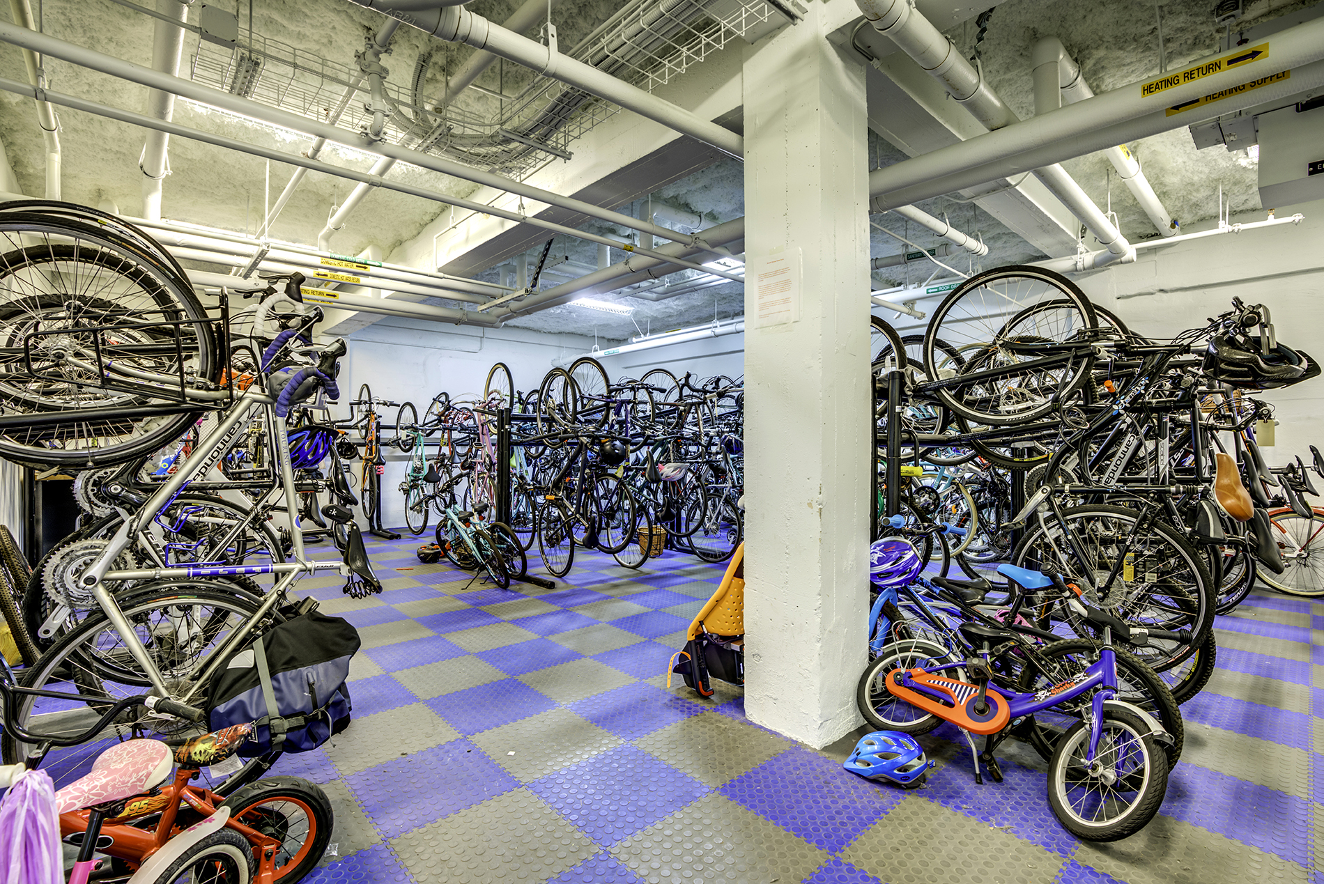 Bike room of an apartment building