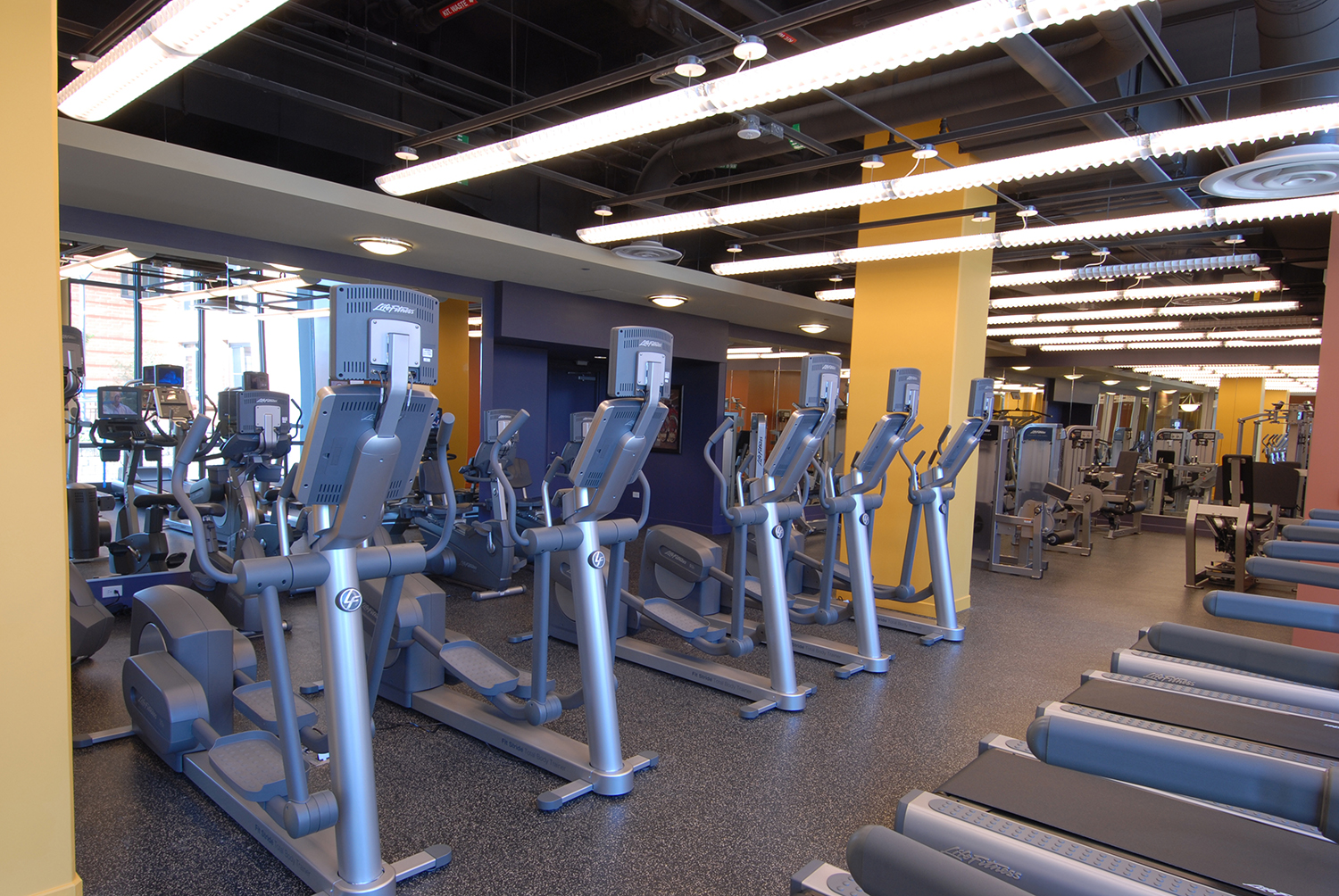 Fitness center at an apartment building