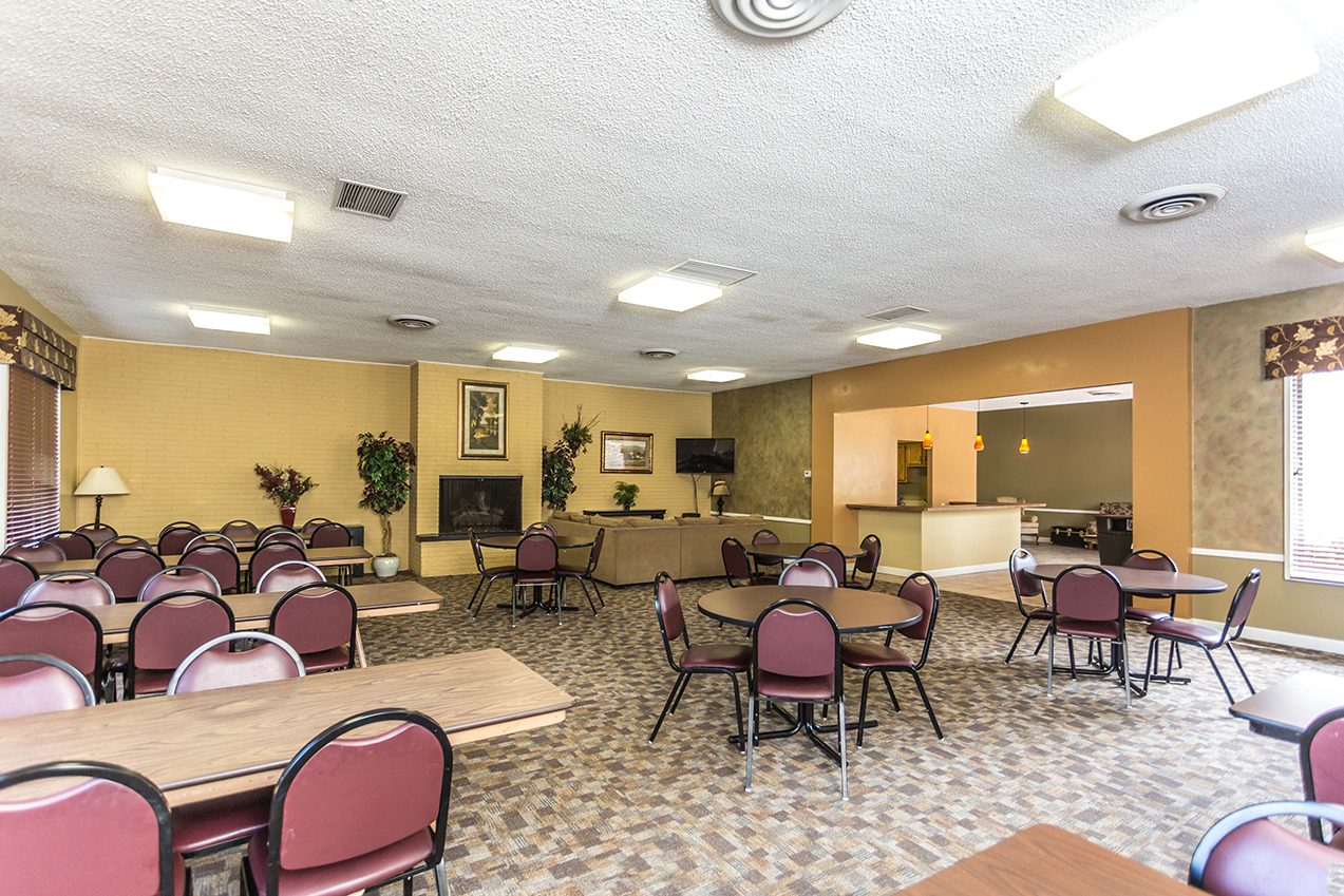 Community room of an apartment building