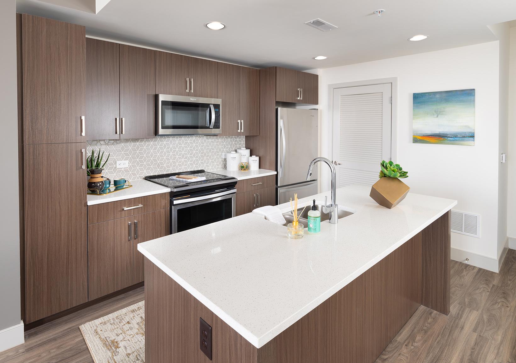 Ktichen of a modern apartment