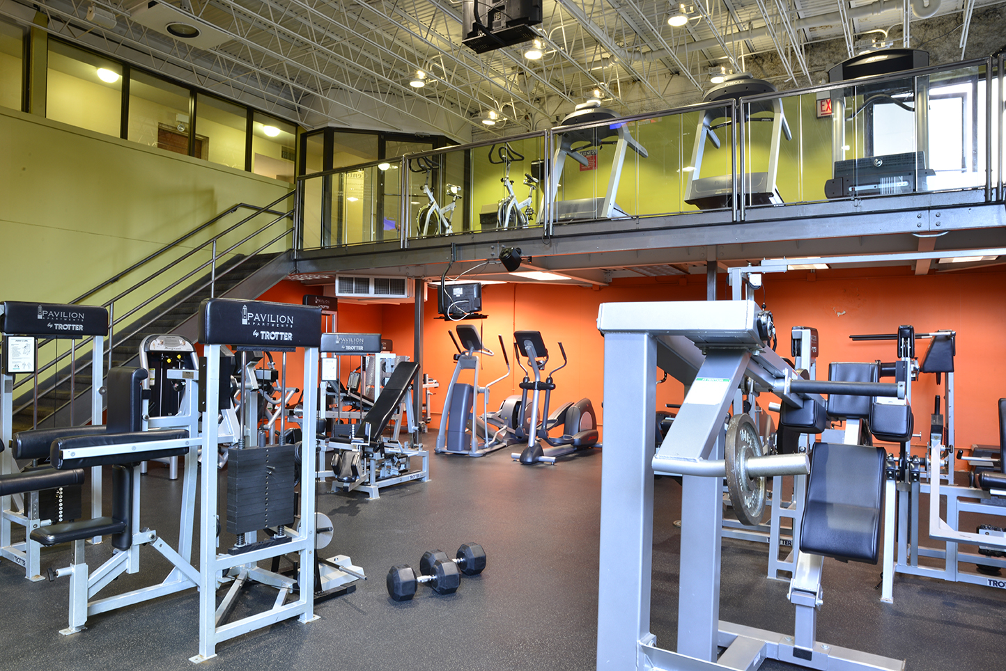 Fitness center in an apartment building