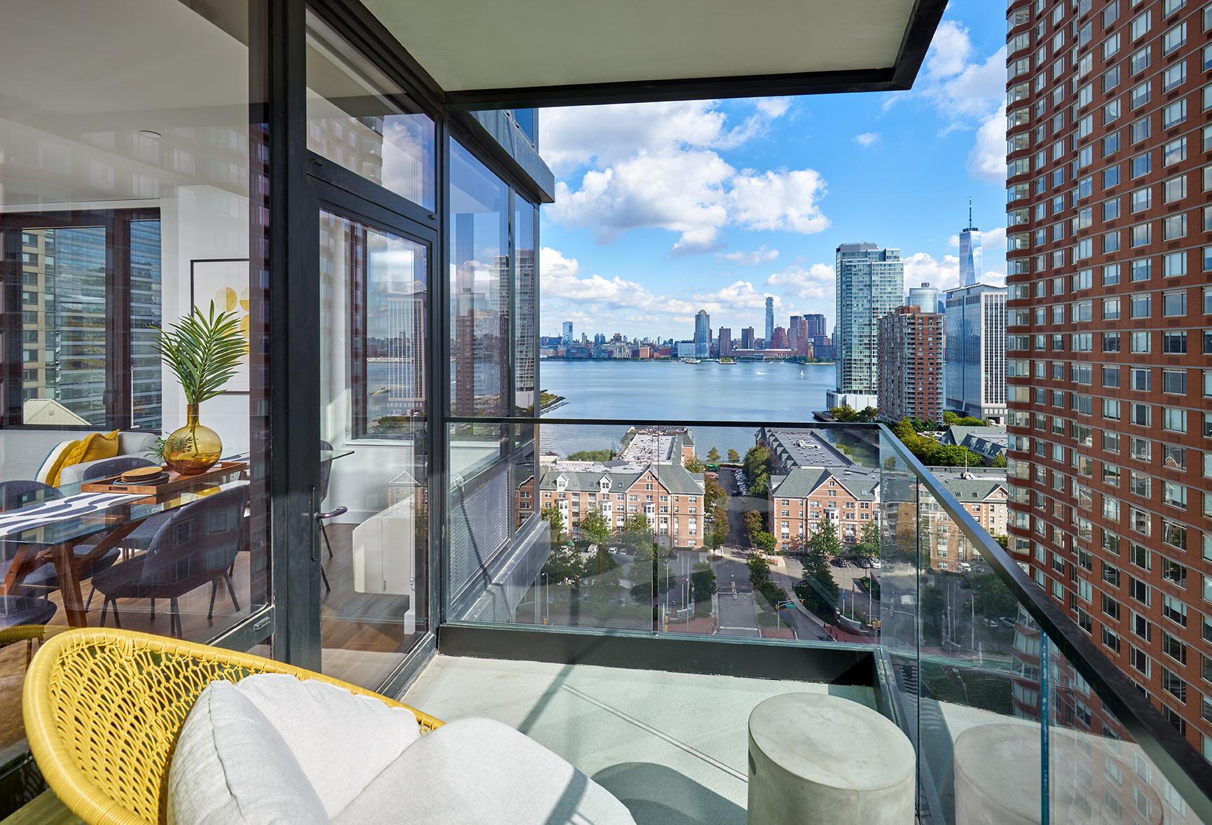 Balcony of a modern apartment unit