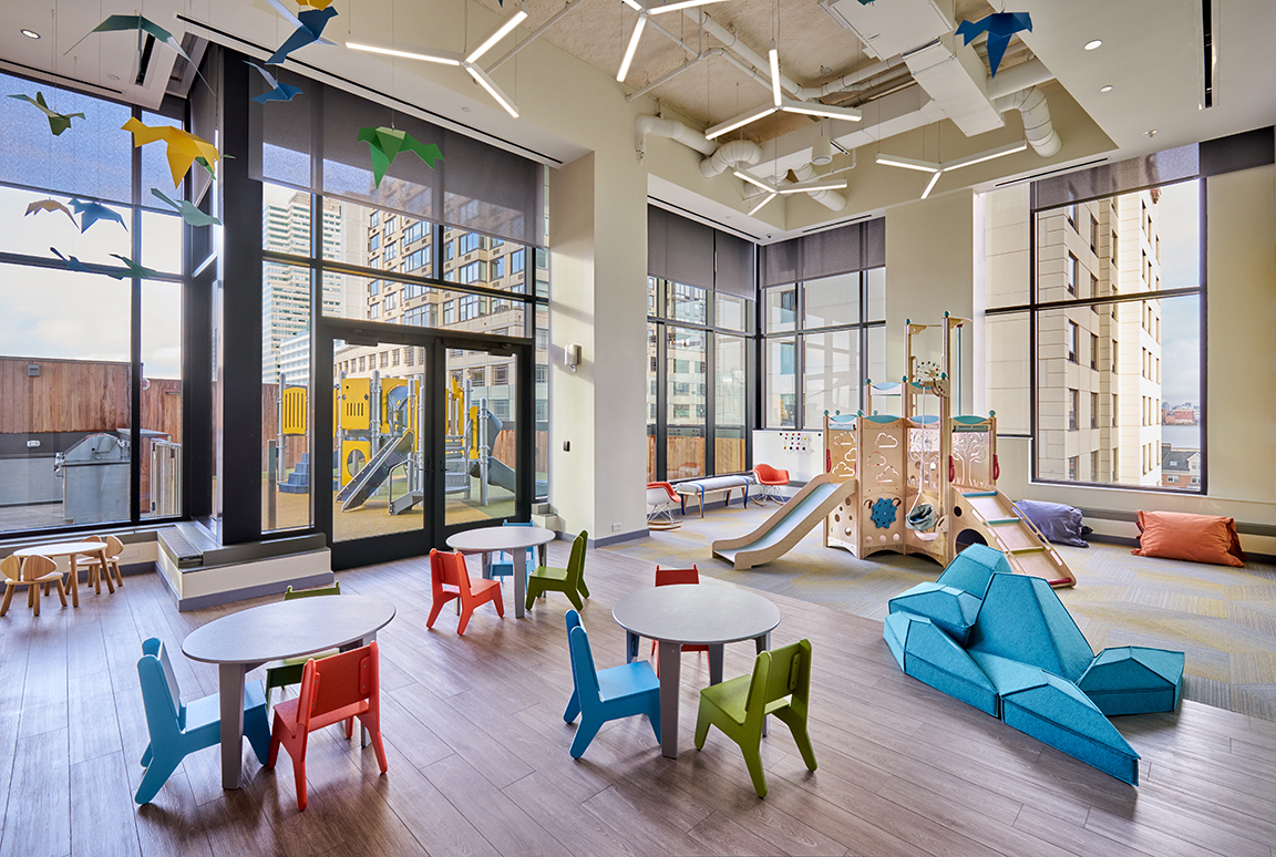 Children's play room of an apartment building
